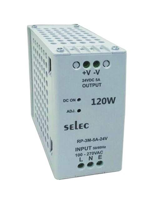 SELEC strømforsyning 5A, 24 V DC, 120W